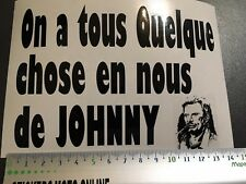 JOHNNY HALLYDAY TENNESSE HOMMAGE STICKER AUTOCOLLANT MOTO VOITURE CARROSSERIE