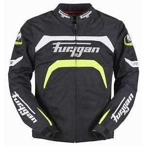 Furygan Arrow Vented Jacket Black Yellow Mesh Armoured Motorcycle Jacket NEW