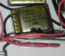 Power Transformer 41Lf100•Primary voltage:115Vac 60Hz•Secondary voltage:10vac Ct