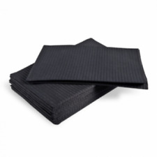 Tattoo Disposable Black Bibs 50 pcs - Absorbent Tattoo Tray Pads Dental