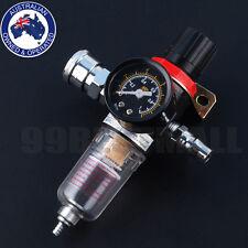 1/4 Inch Air Compressor Regulator Pressure Gauge Water Moisture Trap Filter Tool