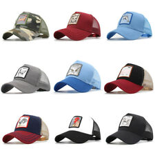 Animal Embroidery Baseball Cap Mesh Trucker Hat Breathable F. Outdoor Adjustable