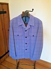 """Vintage lounge leisure suit  Jacket 42"""" slate blue tweed - amazing"""