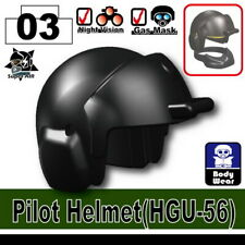 Black Pilot Helmet for LEGO army military brick minifigures