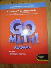 Go Math! Grade 2, Alabama Transition Guide, Common Core, 2012  9780547724560