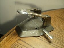 "Vintage Acco Paper Punch w/ Gauge Lock Adjustment Tool No. 10 - 6-5/16"" Long"