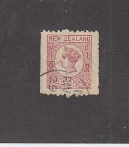 NEW ZEALAND (MK6826) # P3b VF-USED 1/2p QV NEWSPAPER STAMP /ROSE  CAT VALUE $13