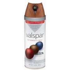 Valspar Brand 12 Oz Brown Velvet Satin Premium Enamel Spray Paint Pack of 6