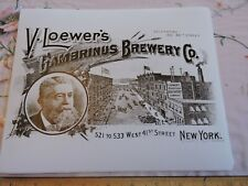 1899 V. Loewer's Gambrinus Brewery Co Beer Hells Kitchen New York City Nyc Photo