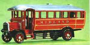 Midland Red white-metal or resin bus kits by W&T. WTP08