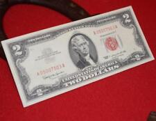 NICE OLD VINTAGE RED 1963 U.S. TWO DOLLAR UNITED STATES NOTE 2 US BILL NR
