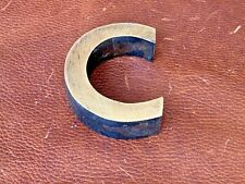 Letter C Vintage 1980's Metal Letters Made in Europe Initial Hand Made 3D