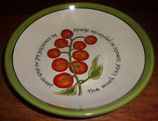 "9""Certified International Judy Phipps Green Trim Tomatoes Vegetables Coupe Bowl"