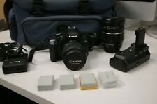 Canon 450D DSLR camera package two lenses, battery pack + more. Great condition