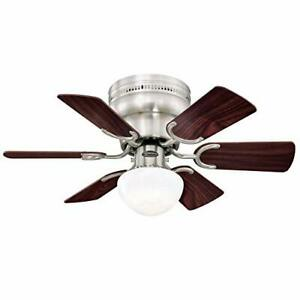 Westinghouse 7230700 Petite Indoor Ceiling Fan with Light, 30 Inch, BN