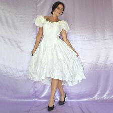 Satén & Encaje En Vestido de Novia S 36 Estilo Campana Baile Maxi