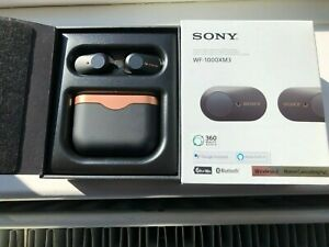 SONY WF-1000XM3 WIRELESS BLUETOOTH NOISE CANCELLING EARPHONES RECHARGEABLE BLACK