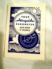 Airguide Barometer and How it Works Guide/Instruction Book