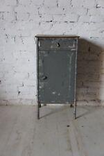 Pair of Industrial Vintage Bedside Cabinet Cupboard Table - raw-  Metal Soviet