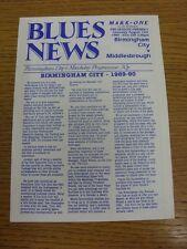 12/08/1989 Birmingham City v Middlesbrough [Friendly] . Bobfrankandelvis the eba