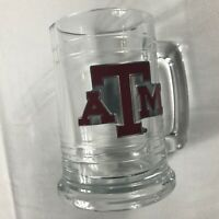 Texas A&M Glass Stein Pewter Letters Student Alumni Mug Cup Drink Gift Beer Grad