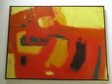 BOYER PAINTING ABSTRACT LARGE EXPRESSIONISM MODERNISM EXPRESSIONIST VINTAGE 1960