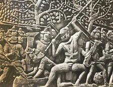 Temple Banteay Srei Angkor Vat Cambodge photographie originale C 1950 presse 14