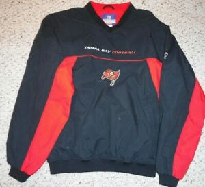 VINTAGE TAMPA BAY BUCCANEERS ON FIELD TEAM ISSUE PULLOVER JACKET SIZE LARGE