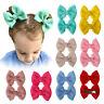 2Pcs/Set Baby Girls Hairpins Newborn Plain Kids Hair Clip Barrettes Big Bow Knot