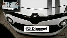 TWINGO II FACELIFT 2011-2014 FRONT&REAR BADGE EMBLEM COVER SET in GLOSS BLACK