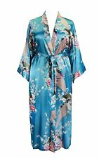 838 - Plus Size Peacock Japanese Women Kimono Sleep Robe, US Size 1X 2X 3X