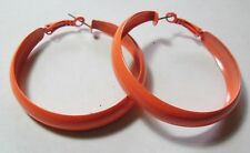 Bijoux fantaisie: Boucles d'oreilles créoles - orange fluorescent - 5 cm