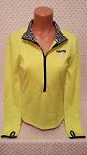 NWOT Victoria's Secret PINK Ultimate Half-Zip Pullover Neon Yellow M