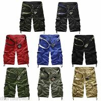 Men's Casual Military Army Combat Camo Overall Shorts Cargo Summer Sports Pants