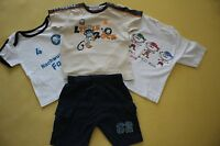 DOPO DOPO  Kinder T-Shirt Shorts 4-tlg Set  BAUMWOLLE Gr. 80