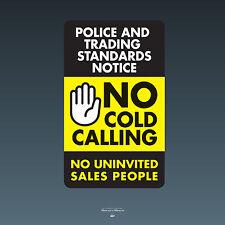 SKU067 - No Cold Calling Door Sticker - Stop Sales Callers Sign - 75mm x 125mm
