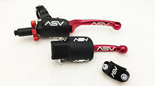 ASV F3 Red Holiday Pro Pack Unbreakable Clutch + Folding Brake Levers CRF