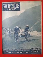 05/07/47 miroir sprint n°TOUR DE FRANCE 1947  LES ETAPES BRAMBILLA RONCONI