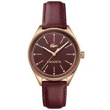NIB Lacoste Philadephia 2000934 Womens Leather Strap Watch