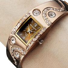 Women's Square Rhinestone Crystal Diamante Bracelet Bangle Wrist Watch
