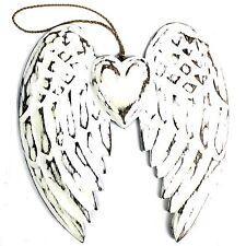Wooden Angel Wings 24cm Doiuble Winged