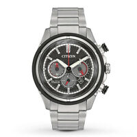 BRAND NEW CITIZEN CA4240-82E CHRONOGRAPH TITANIUM STRAP BLACK DIAL MEN'S WATCH