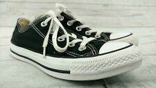 CONVERSE ALL STAR CANVAS SHOES LOW TOP UNISEX MEN 4 / WOMEN 6 - BLACK