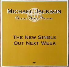 "Michael Jackson  Gone Too Soon   Original 1993 UK 12"" Promo Instore Display Flat"
