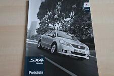 101792) Suzuki SX4 Limousine - Preise & Extras - Prospekt 07/2011