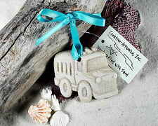 TOY SCHOOL BUS Made with Sand Tropical Beach Ornament
