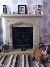 QUALITY NEW MULTI FUEL STOVE  STONE FIREPLACE / FIRE PLACE SURROUND