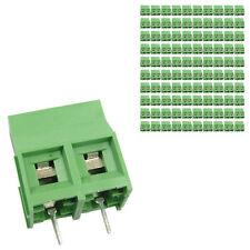 100 pcs 9.5mm Pitch 300V 30A 2P Poles PCB Screw Terminal Block Connector Green