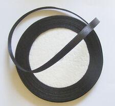 1 Reel Satin Ribbon - 22 Metres  - Black - 6mm