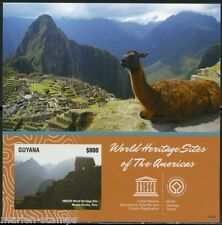 GUYANA WORLD HERITAGE SITES MACHU PICCHU PERU S/S  IMPERFORATED MINT NH